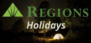Regions Bank Holidays