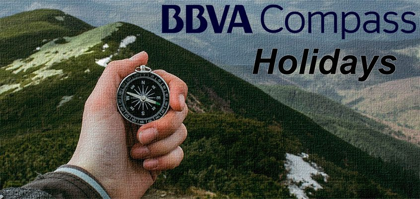 BBVA Compass Bank Holidays