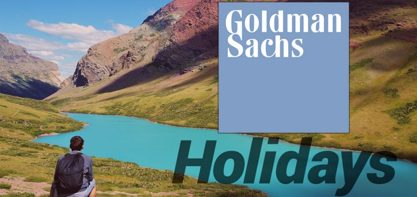 Goldman Sachs Bank Holidays