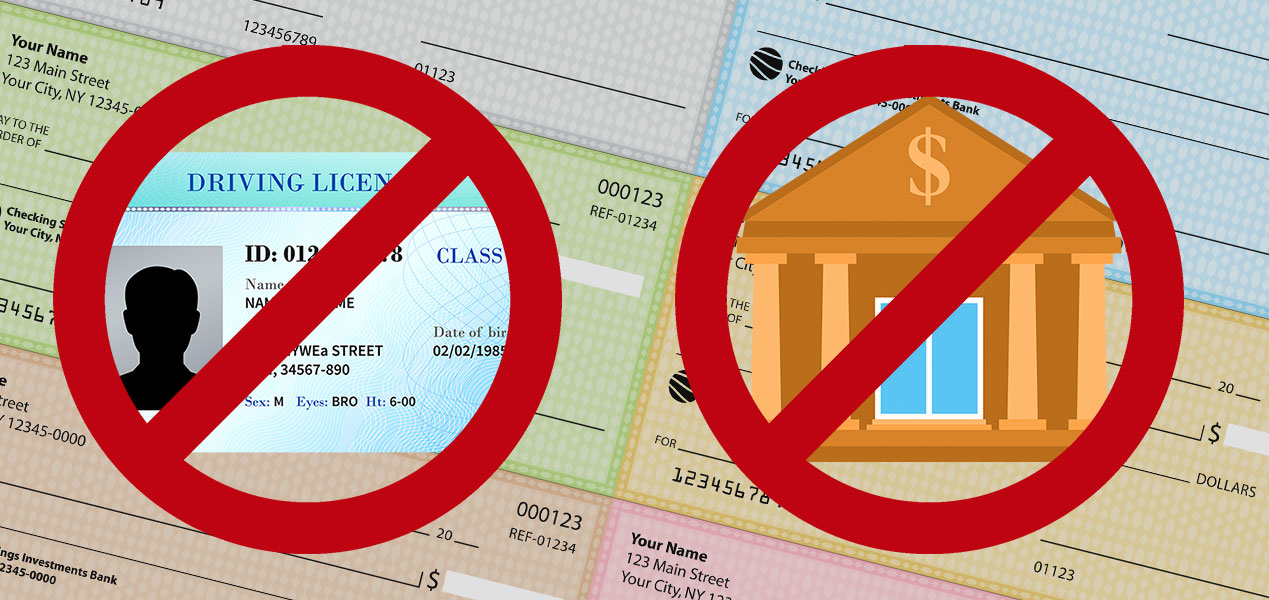 How To Cash A Check Without An Id Or Bank Account Banks Org